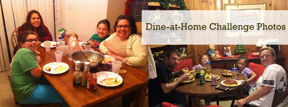 Click to view our Dine-at-Home Challenge photos.